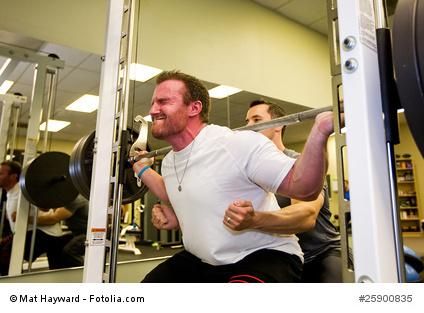 Weightlifter in gym