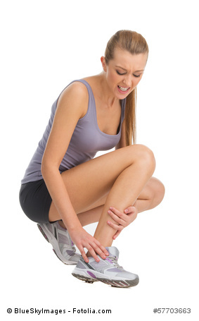 Woman pain foot ankles