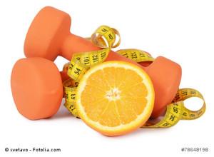 dumbbells oranges