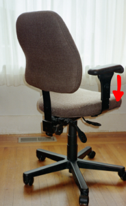 chair arm too high